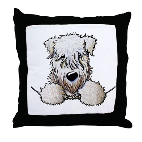 SC Wheaten Pocket Throw Pillow