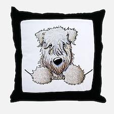 SC Wheaten Pocket Throw Pillow