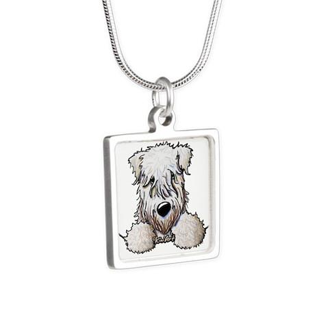 SC Wheaten Pocket Silver Square Necklace