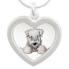SC Wheaten Pocket Silver Heart Necklace