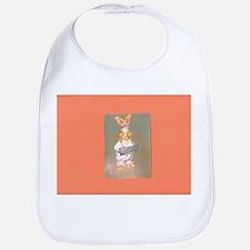 Orange Gold Hersheys Rabbit Bib