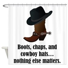 Boots Chaps Cowboy Hats Shower Curtain