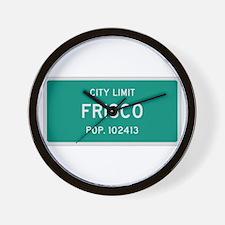 Frisco, Texas City Limits Wall Clock