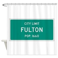 Fulton, Texas City Limits Shower Curtain