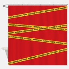 warning Shower Curtain