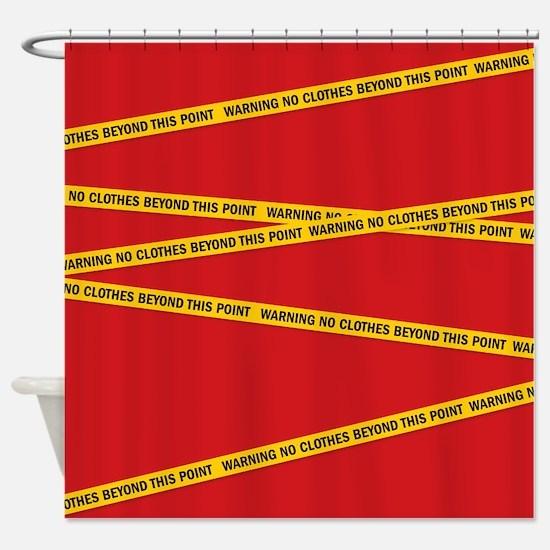warning Shower Curtain