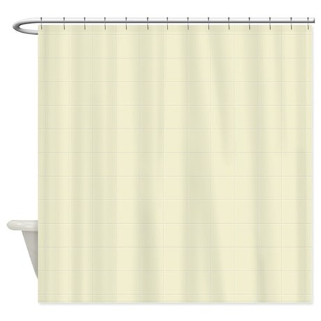 Cream Tiles Shower Curtain By Tshirtsbye2