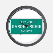 Garden Ridge, Texas City Limits Wall Clock
