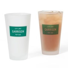 Garrison, Texas City Limits Drinking Glass