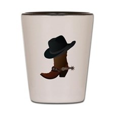 Cowboy Boot And Hat Shot Glass