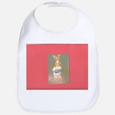 Red Gold Hersheys Rabbit. Bib