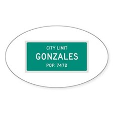Gonzales, Texas City Limits Decal