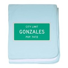 Gonzales, Texas City Limits baby blanket