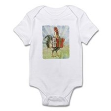 Accordian playing Chicken Infant Bodysuit