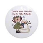 Making Friends Holiday Ornament (Round)