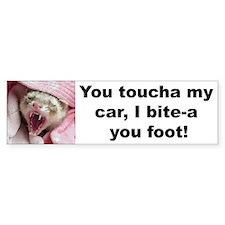 """Bite Your Foot"" Bumper Sticker -- pink"
