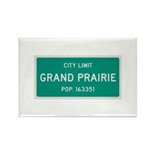 Grand Prairie, Texas City Limits Rectangle Magnet