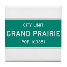 Grand Prairie, Texas City Limits Tile Coaster