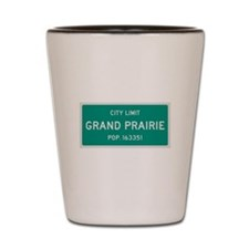 Grand Prairie, Texas City Limits Shot Glass