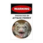 Warning--Attack Ferret Sticker