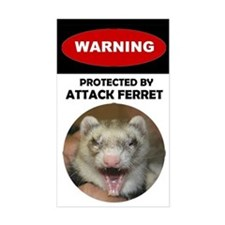 Warning--Attack Ferret Decal