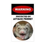 Warning--Attack Ferret Sticker