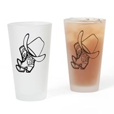Cowboy Hat And Boots Drinking Glass