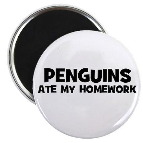 "Penguins Ate My Homework 2.25"" Magnet (10 pack)"