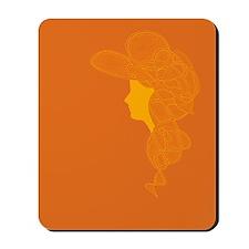 Orange Lady Mousepad