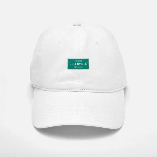 Greenville, Texas City Limits Baseball Baseball Baseball Cap
