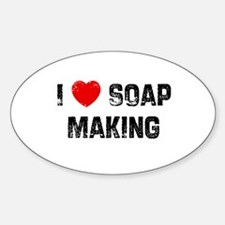 I * Soap Making Oval Decal