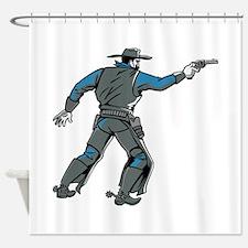 Shooting Cowboy Shower Curtain