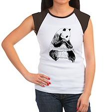 Hand Sketched Panda Women's Cap Sleeve T-Shirt
