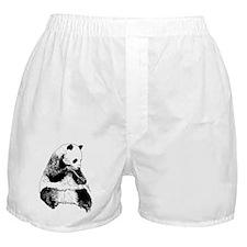 Hand Sketched Panda Boxer Shorts