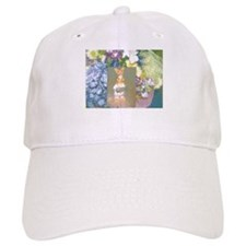 Purple Flowers Gold Hersheys Rabbit. Baseball Baseball Cap