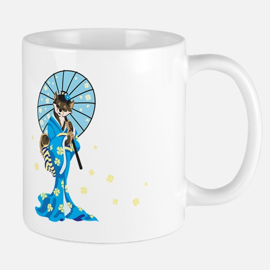Shiba Geisha, Black and Tan, Mug