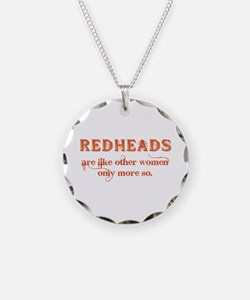 Redheads Necklace Circle Charm