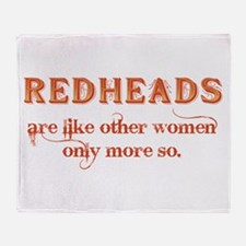 Redheads Throw Blanket