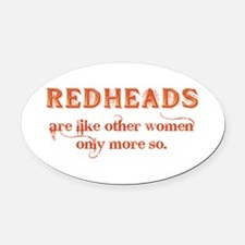 Redheads Oval Car Magnet