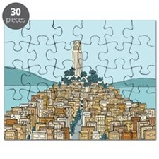 Cute Orange city Puzzle