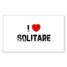 I * Solitare Rectangle Decal