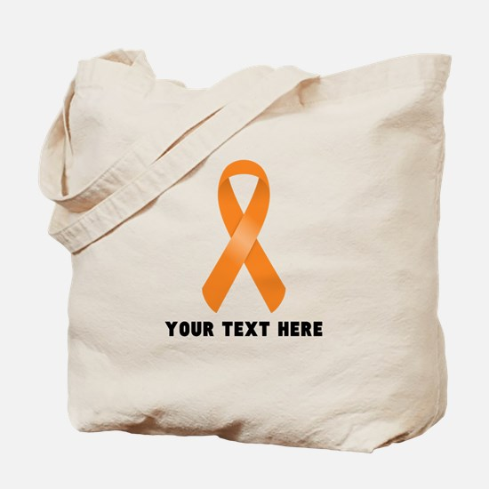 Orange Awareness Ribbon Customized Tote Bag