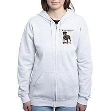 Cute Rottweiler art Zip Hoodie