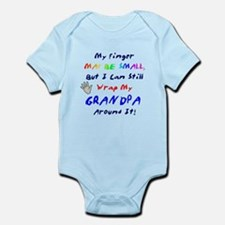 My finger may be small... Grandpa Infant Bodysuit