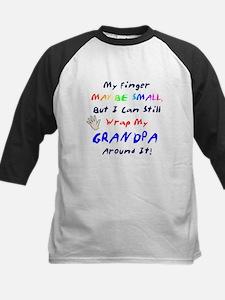 My finger ... small...Grandpa Kid Baseball Jersey
