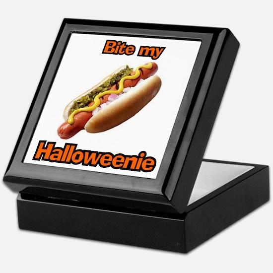 Bite My Halloweenie Keepsake Box