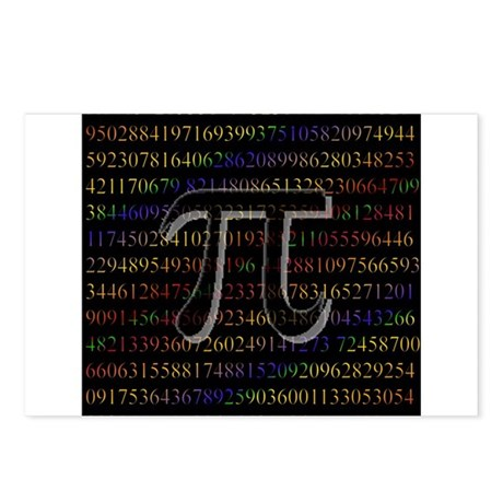 Pi. Postcards (Package of 8)