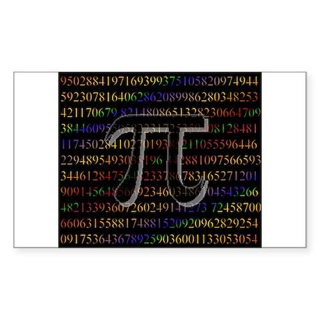 Pi. Rectangle Sticker