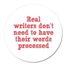 Writers and Word Processing Round Car Magnet