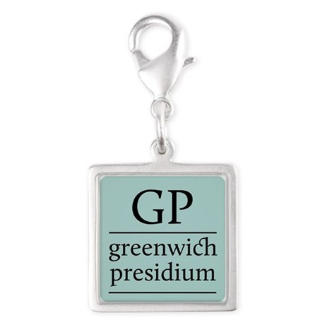 GP Silver Square Charm